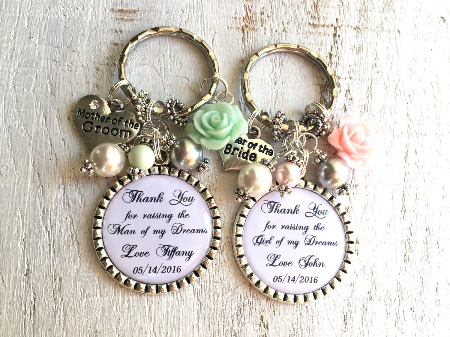 Keychain For Wedding Gift : Personalized keychain or necklace for parents Wedding Gifts
