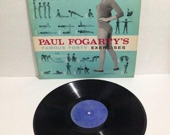 Paul Fogarty Paul Fogarty's Famous Forty Exercises Vintage Vinyl Record Album lp 1950s RCA Victor Custom Record Dept M70P-2344 PF-1000