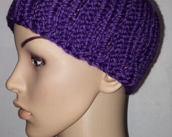Purple thick Knit Beanie