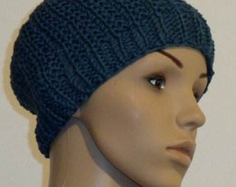 Knitted pure Cottonwhool in Prussian blue