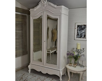 Large White Shabby Chic French Armoire - FREE UK DELIVERY
