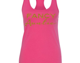Best Fancy Aunt Tank Top, Best Auntie Gifts, T Shirt for Auntie, Special Auntie Gifts, Personalized Auntie Present, My Aunt Rocks, Aunt Tank