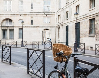 Paris Bicycle Photo, Paris Photography, Paris Print, Paris Decor, Home Decor, Bicycle Photograph, Paris Saint-Germain