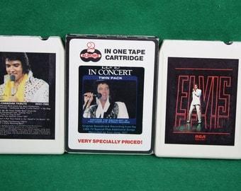 Vintage Elvis Eight Track Tapes - Lot of Three