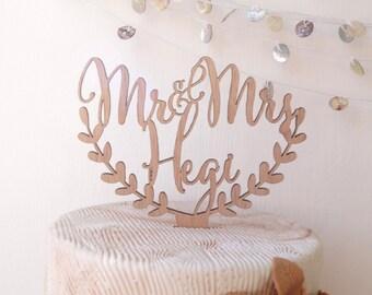 Personalized wedding cake topper, cake topper, rustic wedding cake topper, names cake topper, wooden cake topper