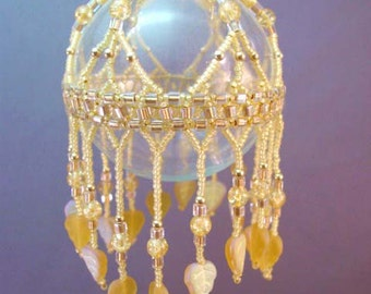 Golden Yellow Cleopira Beaded Ornament Kit