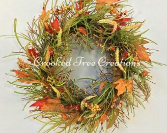Fall Wreath, Autumn Wreath, Pumpkin Wreath, Wispy Wreath, Fall Floral Décor, Fall Floral, Harvest Wreath, Autumn Décor, Fall Wreaths, Fall