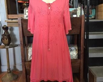 Vintage Dress medium / Indian tunic / tunic Dress / hippie dress medium