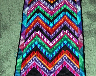 Vintage Mayan Handwoven Runner from Guatemala  50+ Years Old