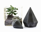 Tall Concrete Diamond Sculpture, Paperweights Jewellery Holder, cement diamond gift, geometric handcrafted diamond beton sculptures