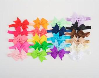 Baby headband, pick 5, baby girl headband, baby headbands, infant headbands, 3.5 inch bows, solid headbands, new baby girl gift, its a girl