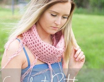 CROCHET PATTERN fringe scarf, crochet scarf, modern crochet pattern, indie crochet pattern, beginner crochet pattern, DIY pattern, gift