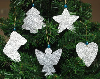 silver christmas ornaments metal christmas tree decor 5 handmade cottage chic christmas decorations