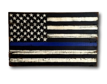 Thin Blue Line Flag/ Thin Blue Line Police Flag/ Police Gift/ Law Enforcement Gift