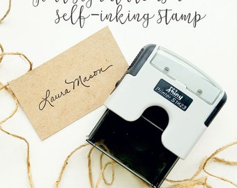 Signature Stamp, Custom Signature Self Inking Stamp, Gift For Grandpa, Name Self Inking, Personalized Gift, Custom Rubber Stamp