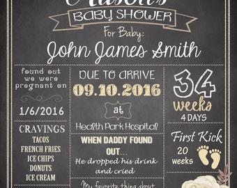 Baby Shower Sign, Pregnancy Poster DIGITAL FILE