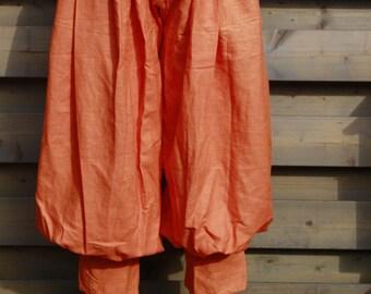Rus viking orange trousers, linen