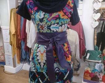 Purple Violet Real Leather obi belts sash belts tie belts cinch belts wrap belts wide belts corset handmade Spain spring summer 2017 trends