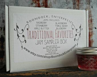 Traditional Favorites Jam Sampler Box - Assorted Jam - Assorted Jelly - Jam Gift Basket - Jelly Gift Box - Jelly Sampler Box - Hostess Gift