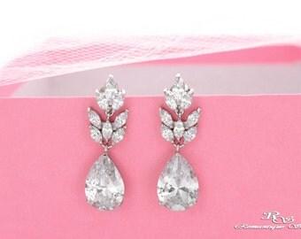 Crystal bridal earrings teardrop marquise crystal earrings rhinestone wedding earrings bridesmaid earrings wedding jewelry accessory 1373