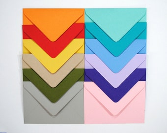 ENVELOPE SET of 10 Envelopes A1  (4 Bar), Select color, 15 options available, add envelopes to your notepad or complete stationery set order