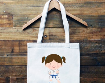 Karate Personalized Tote Bag// School Book Bag