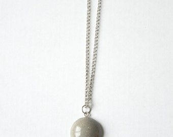 Geometric and glitter concrete necklace