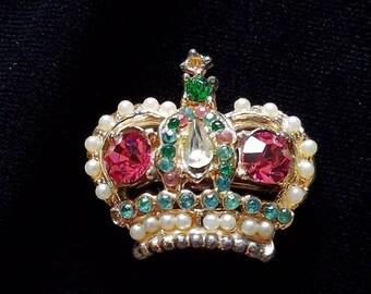 Crown of Jewels Brooch