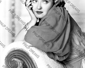 Vintage Photo Poster Wall Art Print of The Beautiful Bette Davis Movie Star Pin-up Legend