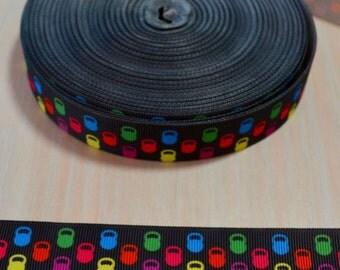 7/8 inch Grosgrain Ribbon - Kettlebell