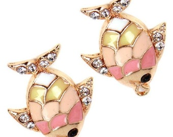 PInk Scaled Fish Charms- Fantastically Fun!  (2)
