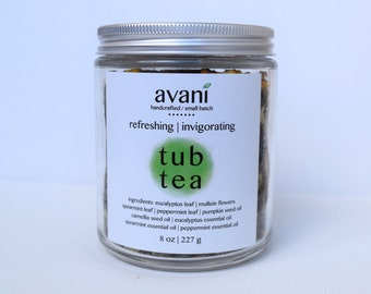 Tub Tea   Eucalyptus, Spearmint, Peppermint   100% Organic