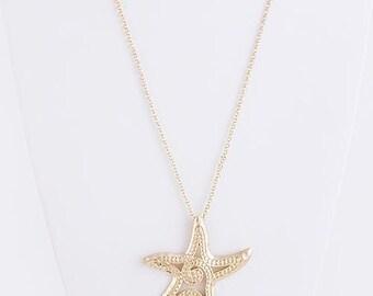 Starfish Pendant Set, Starfish Necklace, Nautical Jewelry, Beach Jewelry