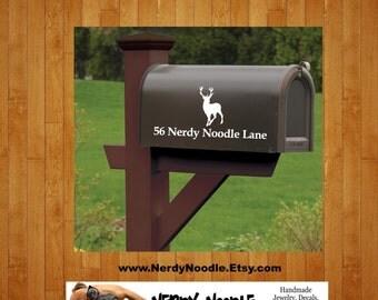 Deer Mailbox Decal, Deer Custom Mailbox Decal, Deer Address Decal, Mailbox Numbers, Mailbox Monogram, Mailbox Stickers