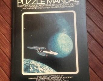 Star Trek Puzzle Manual vintage 1970s paperback