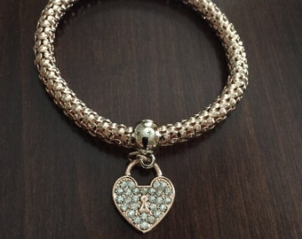 Heart Bracelet, Bracelet, Rose Gold Bracelet, Braclet, Rose Gold Braclet, Rosegold Bracelet, Heart Braclet, Charm Bracelet, Rosegold