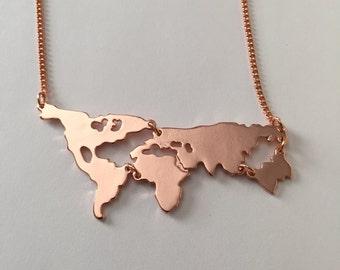 world map necklace, world necklace, world jewelry, world map, world, earth necklace, globe necklace, globe jewelry, globe pendant, necklace