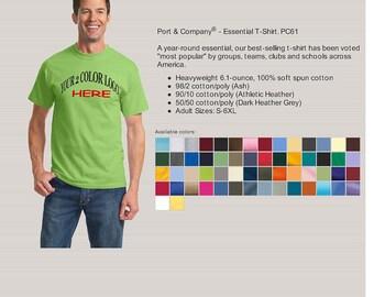 100 CUSTOM SCREEN PRINTED T-shirts