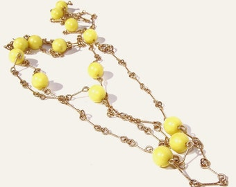 Vintage Bead and Chain Necklace
