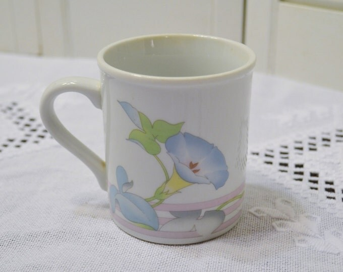 Vintage Coffee Cup Mug Toscany Collection Morning Glory Flower Japan PanchosPorch