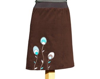 Ellie brown corduroy skirt