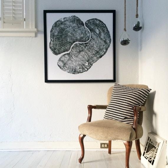 Large Tree Ring Art, Pennsylvania Maple, maple tree ring art, sugar maple art, Oversized wall art, real tree stump art, Tree ring pattern