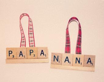 Christmas Ornament, Nona, Nona Ornament, Nona Gift, Nona Christmas Gram Ornament, Gram Gift,  Mimi, Nana, Nana, Grammy, Ornament, Scrabble