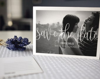 Wedding Save The Date Magnet, Save The Date Printed Card, Save The Date Announcement, Wedding Announcement : Return To Sender