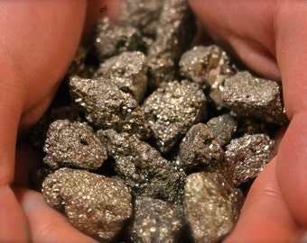 Pyrite Crystal Nugget: Negative Energy Shielding Crystal. Promotes Good Health & Luck. Great for Wiccan, Pagan, Hippie, New Age Healing