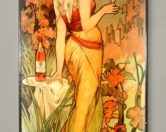 Alphonse Mucha, Cognac Bisquit, Stained glass