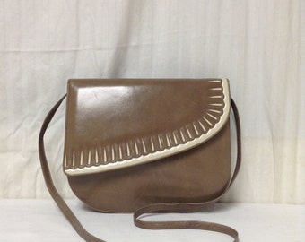 Tan Leather Purse,bag,Made in Italy, Taupe, Tan Shoulder Bag