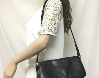 Tandem leather purse,bag, Black, Leather, Purse,bags, Shoulder Bag