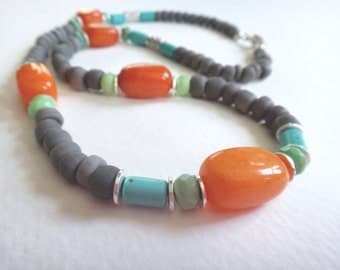 Handmade Bohemian Beaded Statement Necklace