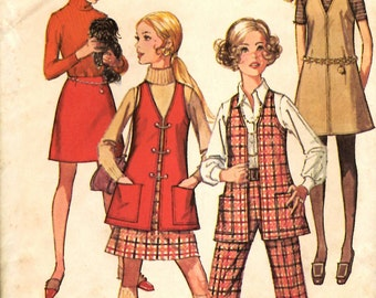 Simplicity 8360 Jumper, Vest, Skirt and Pants Sewing Pattern